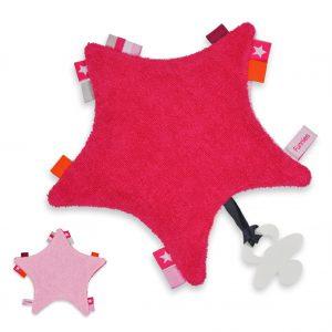 Baby labeldoekje ster met naam geborduurd door My-W Creations