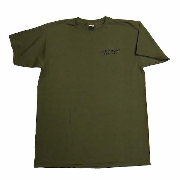 T-Shirt met borstlogo gebordiuurd