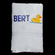 Handdoek met badeend en met naam door My-W Creations Rijen